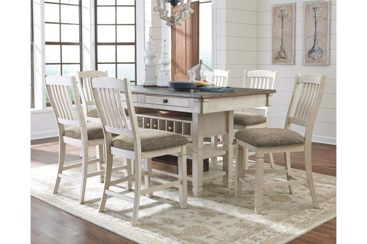 Bolanburg 5 Piece Counter Dining Room Ashley Furniture Homestore Counter Height Dining Room Tables Counter Height Dining Sets Counter Table Set