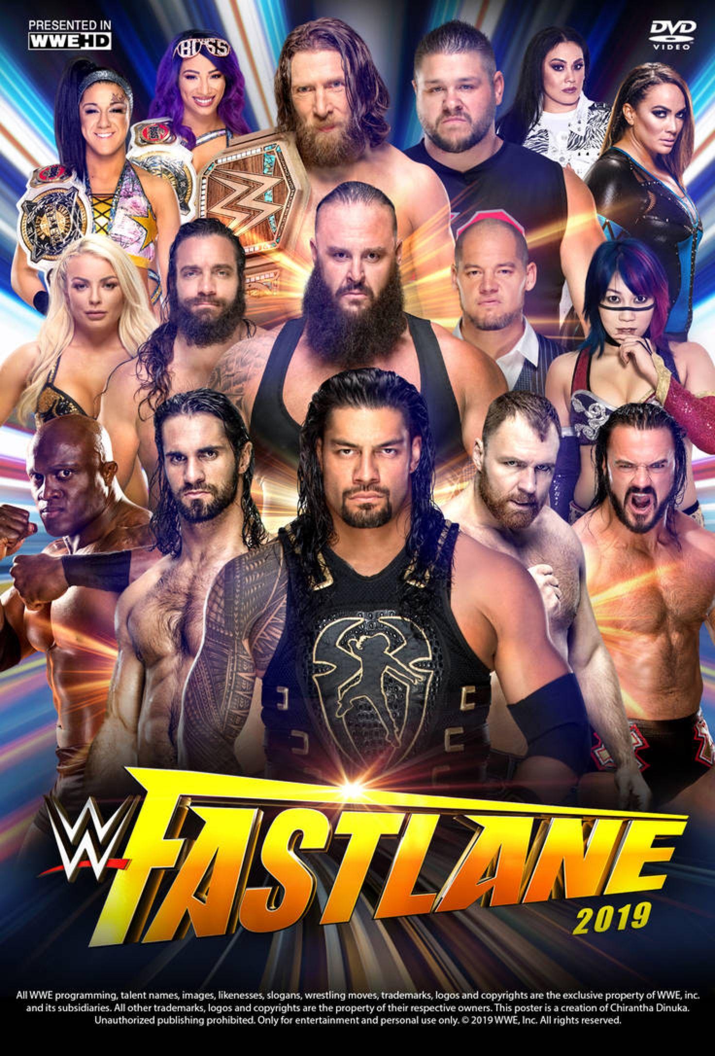 WWE Fastlane 2019 Poster by Chirantha on @DeviantArt | Pro
