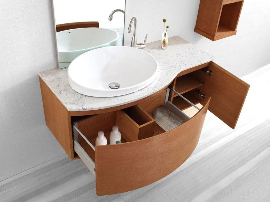 Cool Single Sink Bathroom Vanity Design With Modern Floating Wooden Vanity With Extra St Floating Bathroom Vanities Floating Bathroom Sink Small Bathroom Sinks