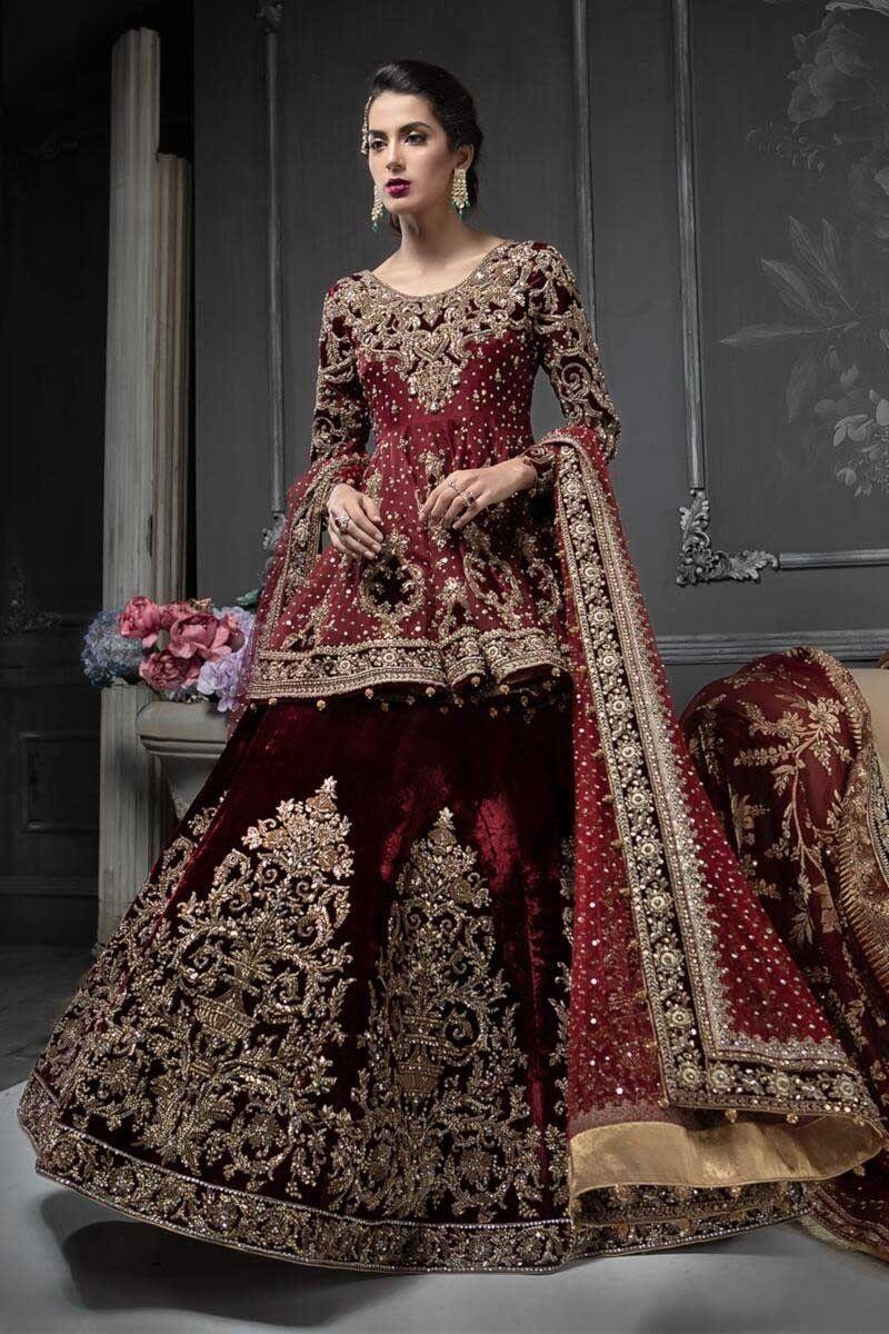 Pakistani Designer Bridal Dresses Maria B Brides 20202021