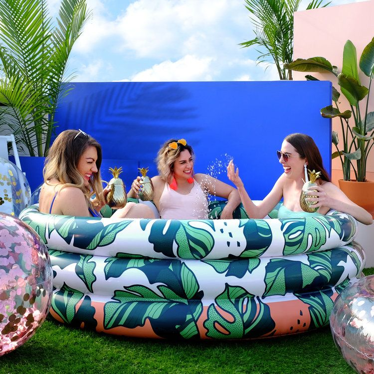 The That S Banana Leave S Luxe Inflatable Pool Blow Up Pool