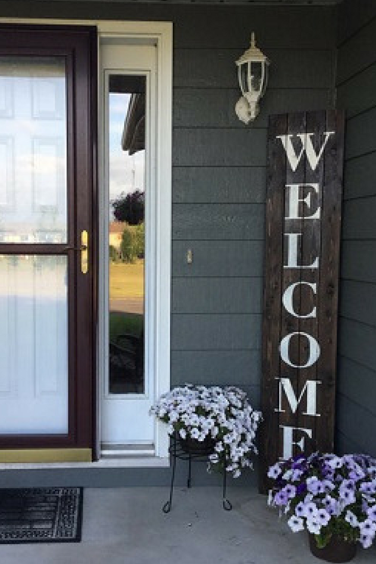 Oversized Front Doorpatio Rustic Welcome Pallet Sign Ad Home