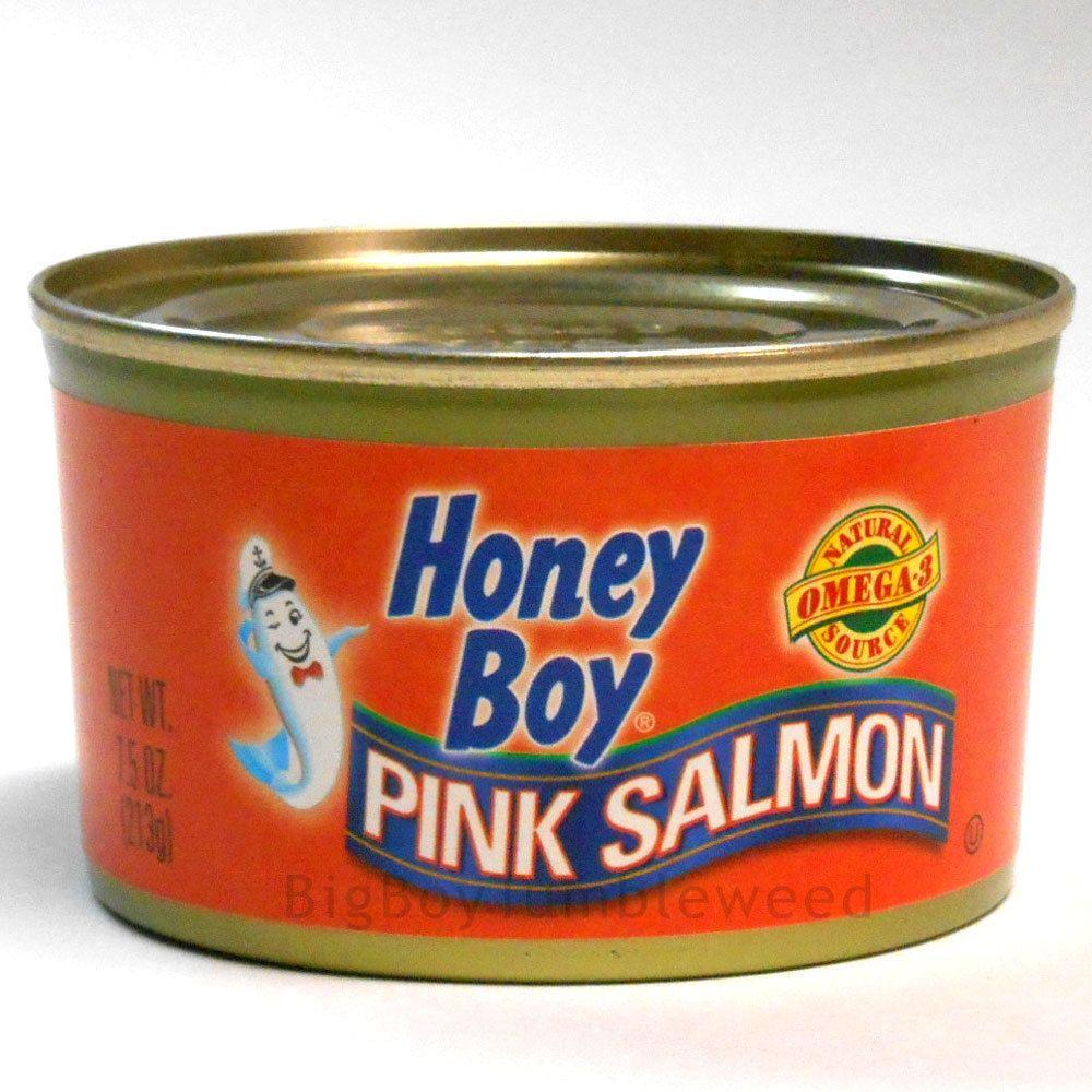 Honey Boy Pink Salmon 7 5 Oz Canned Meat Fish Seafood Omega 3 Salad Food Storage