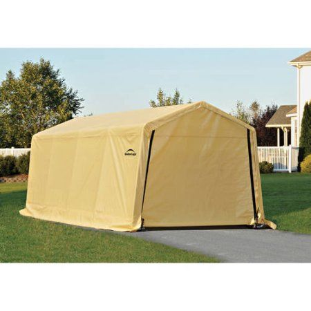 Carports Triple Layer 10 Ft W X 20 Ftd Garage Shelterlogic Cream Want To Know More Click On The Image Th Instant Garage Carport Canopy Portable Garage