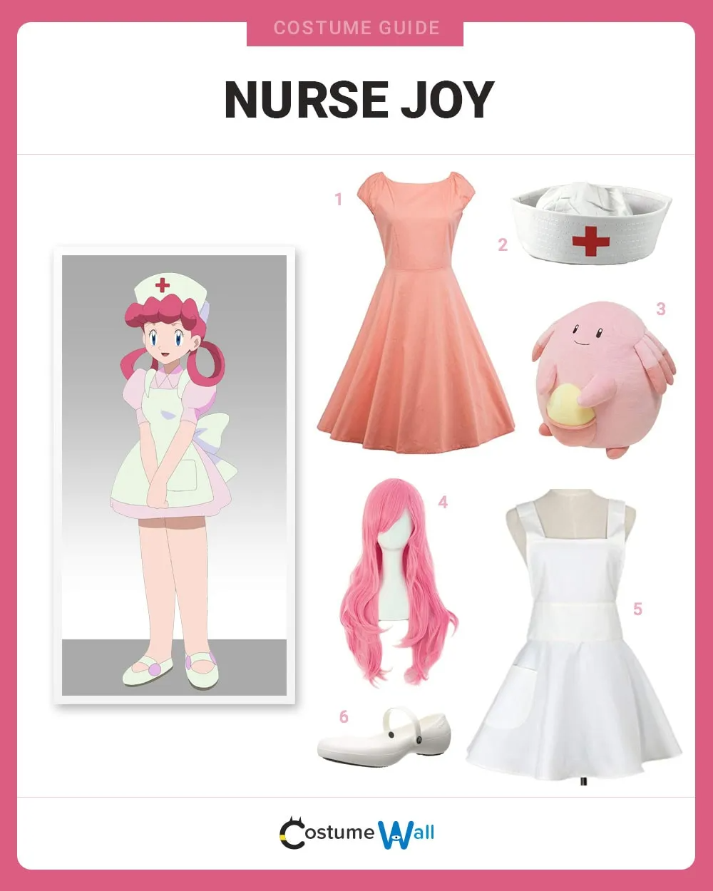 Dress Like Nurse Joy Pokemon Halloween Costume Joy Costume Kids Pokemon Costume