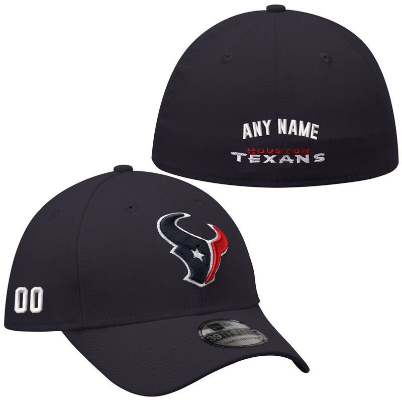 New Era Houston Texans Men s Custom Team Classic 39Thirty Structured  Stretch Fit Hat a6482e8f9