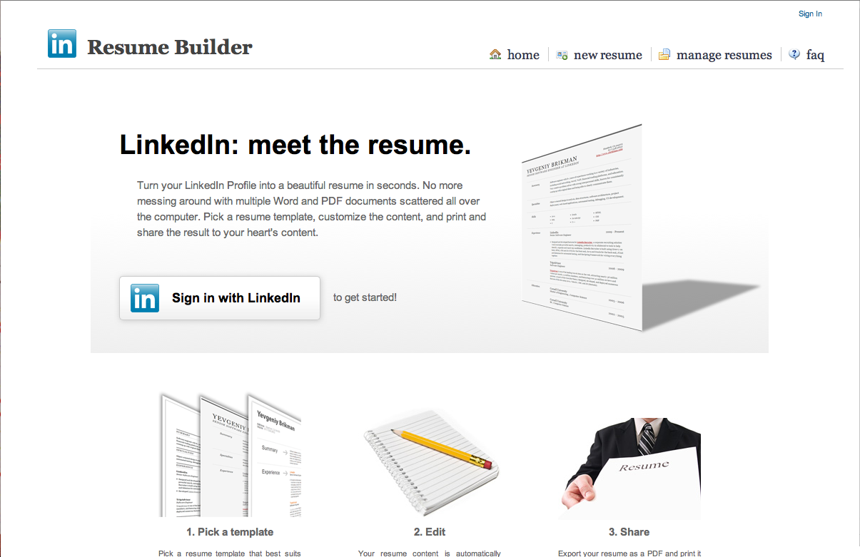 Linked In Resume Via  Alba_Riba Resume Builder Crea Diferentes Modelos De Currículum .