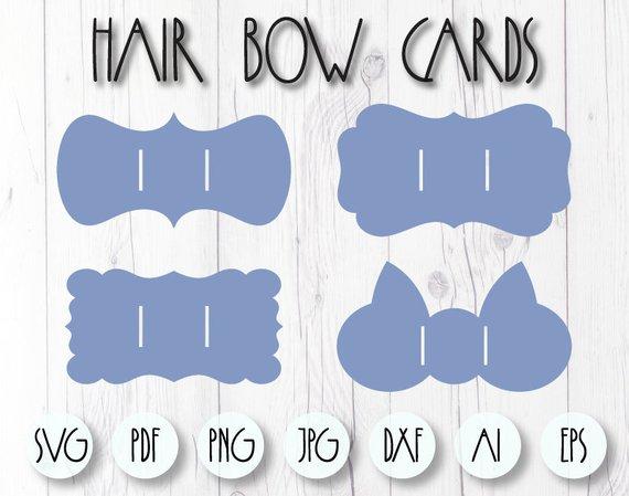 Bow holder template, Bow holder SVG, Hair bow card, Cricut