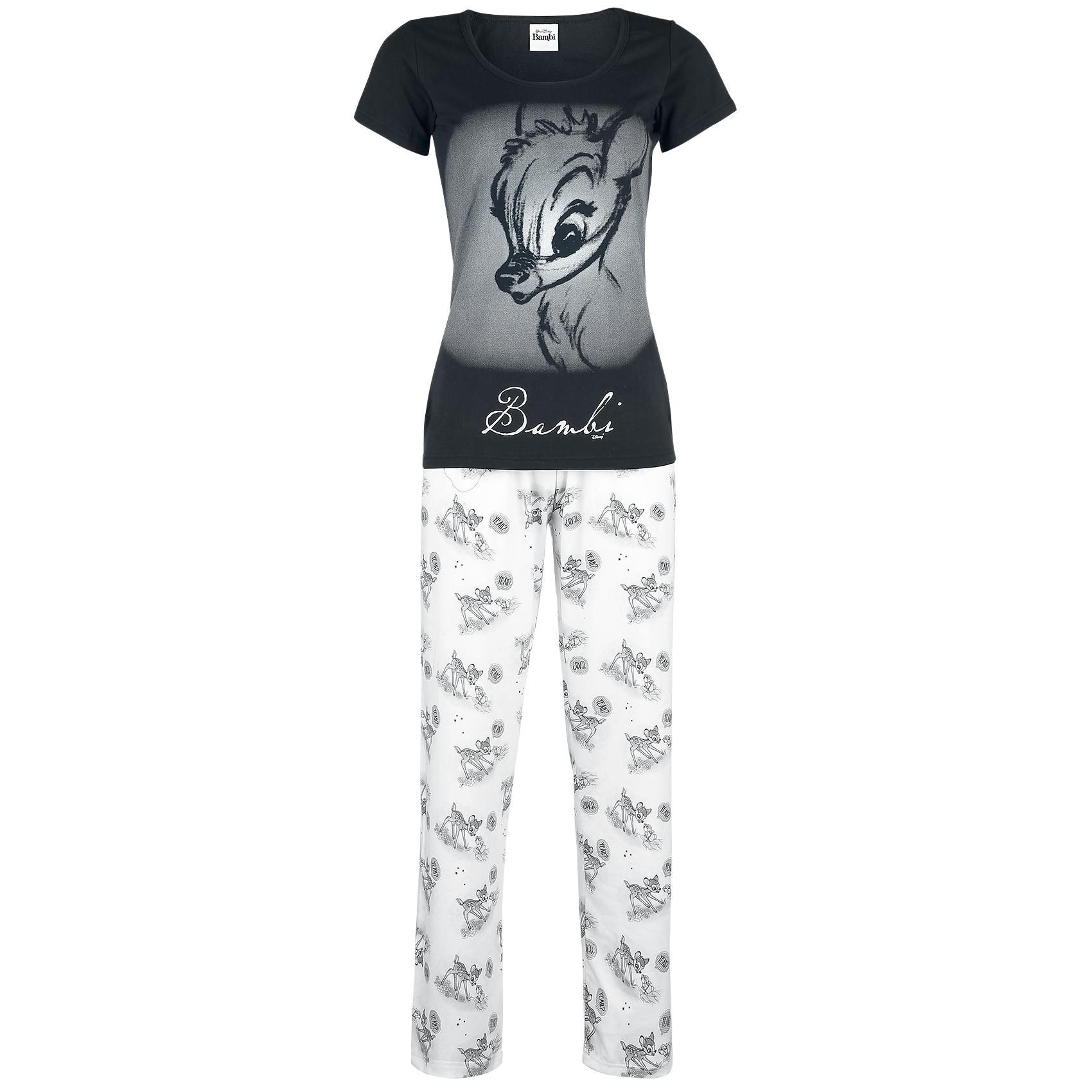 walt disney schlafanzug frauen bambi schwarz wei emp lingerie sleepwear pinterest. Black Bedroom Furniture Sets. Home Design Ideas