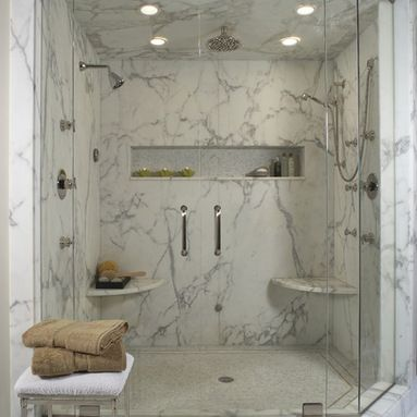 Cultured Marble Shower 7x7 Or 6x6 In Back Left Corner Of