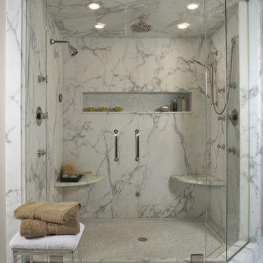 Cultured marble shower 7x7 or 6x6 in back left corner of for Bathroom design 7x7