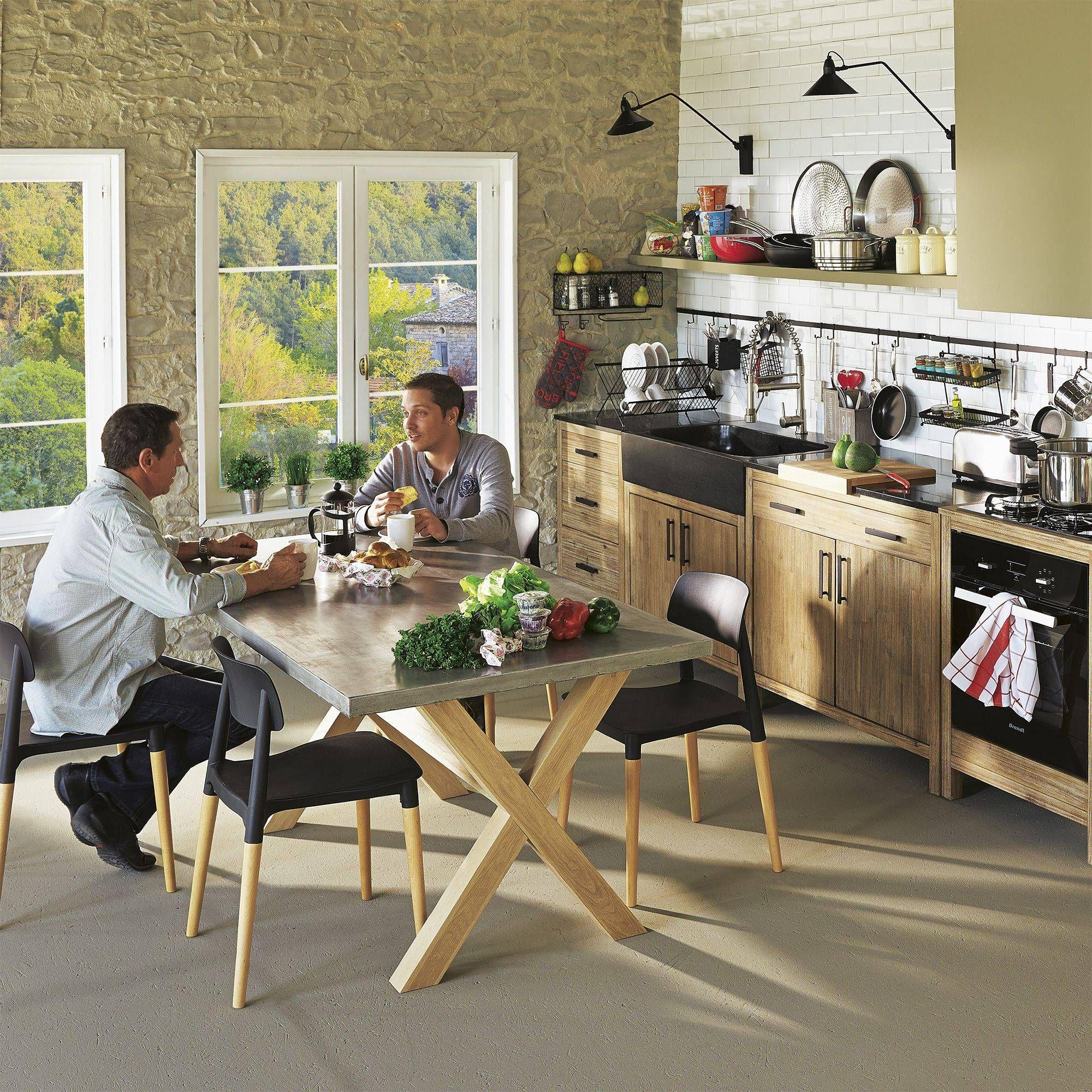 alinea lys meuble de cuisine bas 3 tiroirs | meubles maison ... - Meuble Bas Cuisine 3 Tiroirs