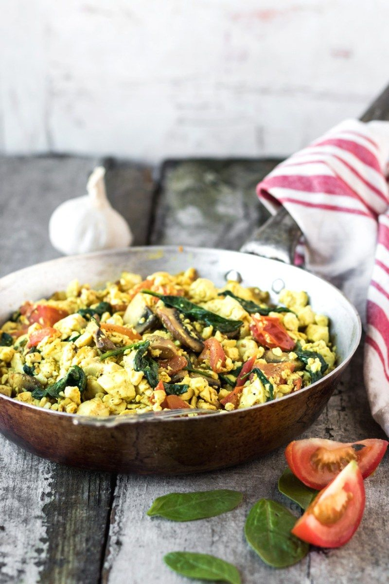 Looking For An Easy Delicious Vegan Breakfast Recipe Well Look No Further This Is The Very Best Silken Tofu Scramble Vegan Tofu Scramble Tofu Scrambled Eggs
