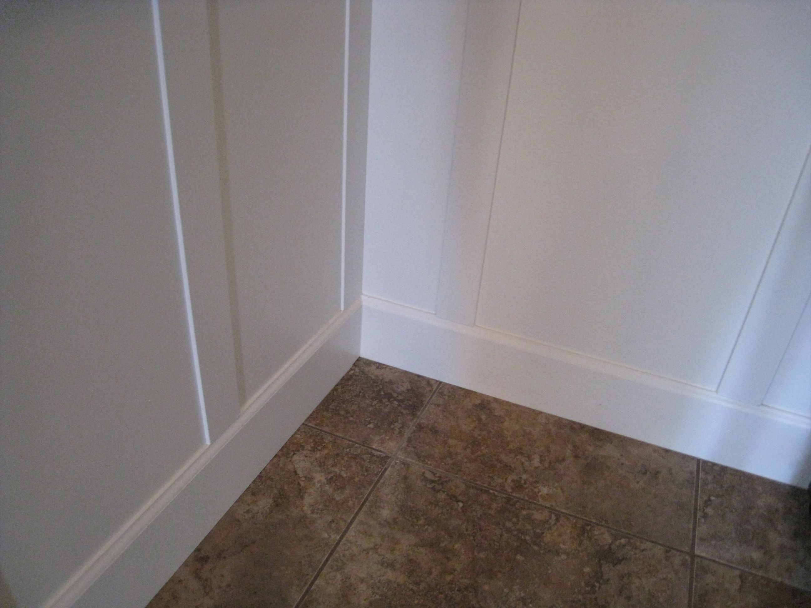 Example of how to do an inside corner with board and for Examples of wainscoting