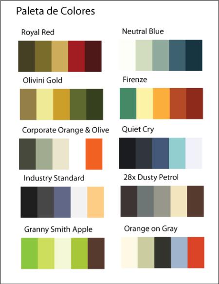 Paleta de colores para imagen corporativa colores palette - Paleta de colores para paredes ...