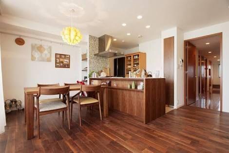 アメリカンブラックチェリー 床 キッチン の画像検索結果