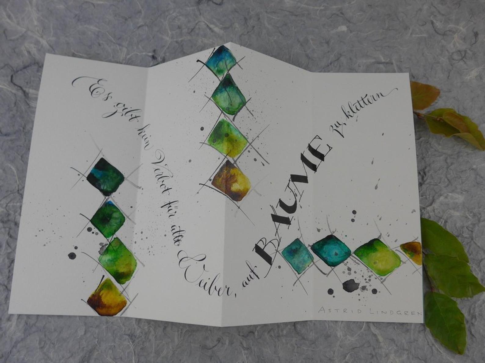 Original Leporello Alte Weiber Leporello Karten Gestalten Und