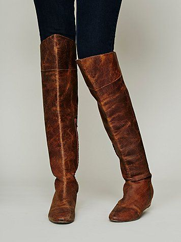 Free People Day to Night Distressed Brown Boot $228
