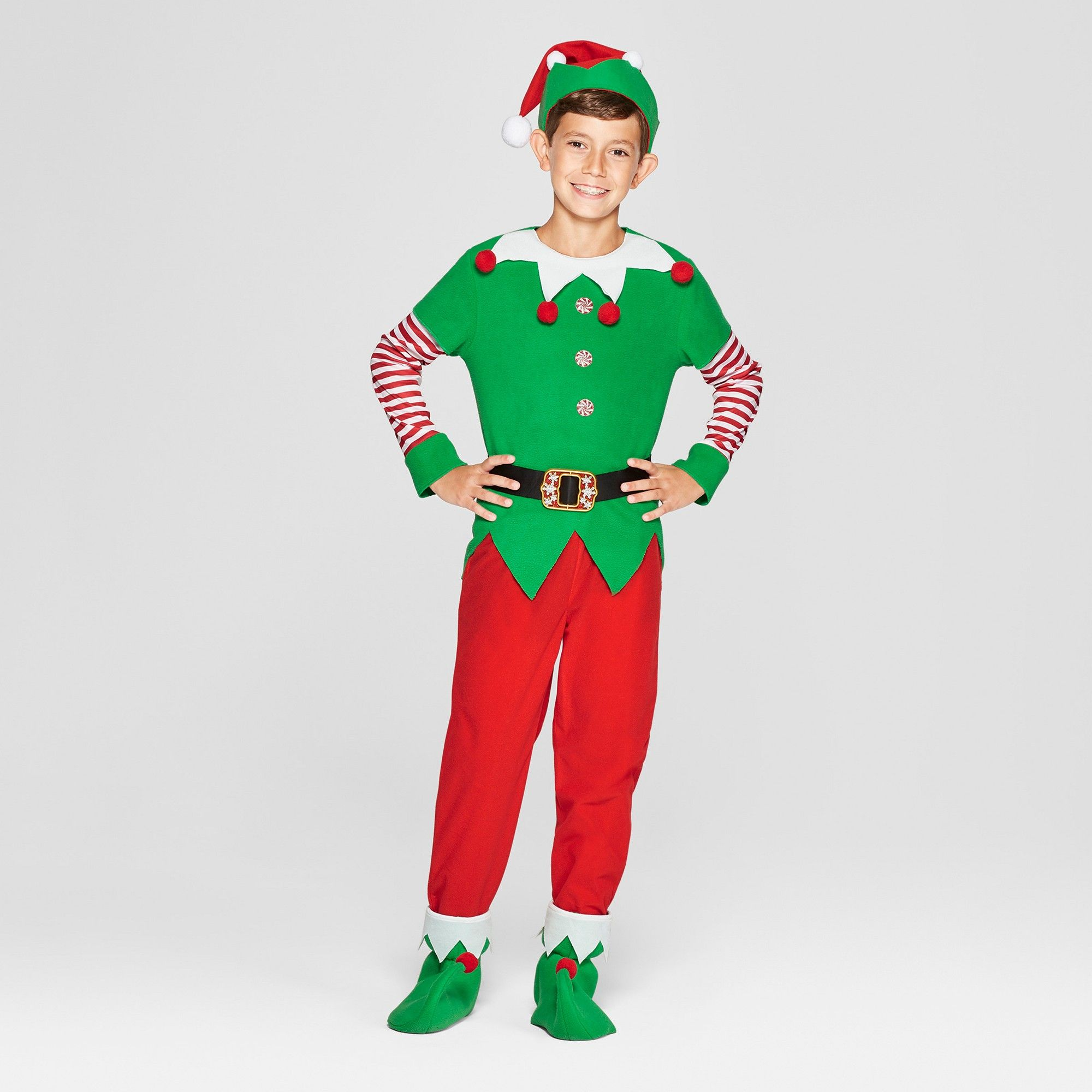 Halloween Boys' Elf Costumes S Multicolored