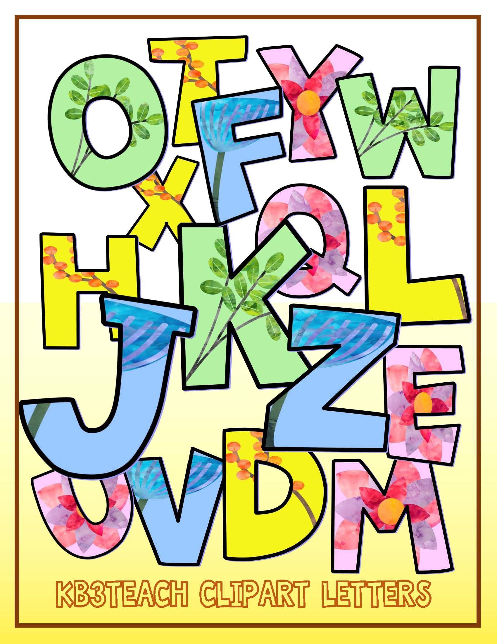 Alphabet Letters Clipart Spring Watercolor Letters 2