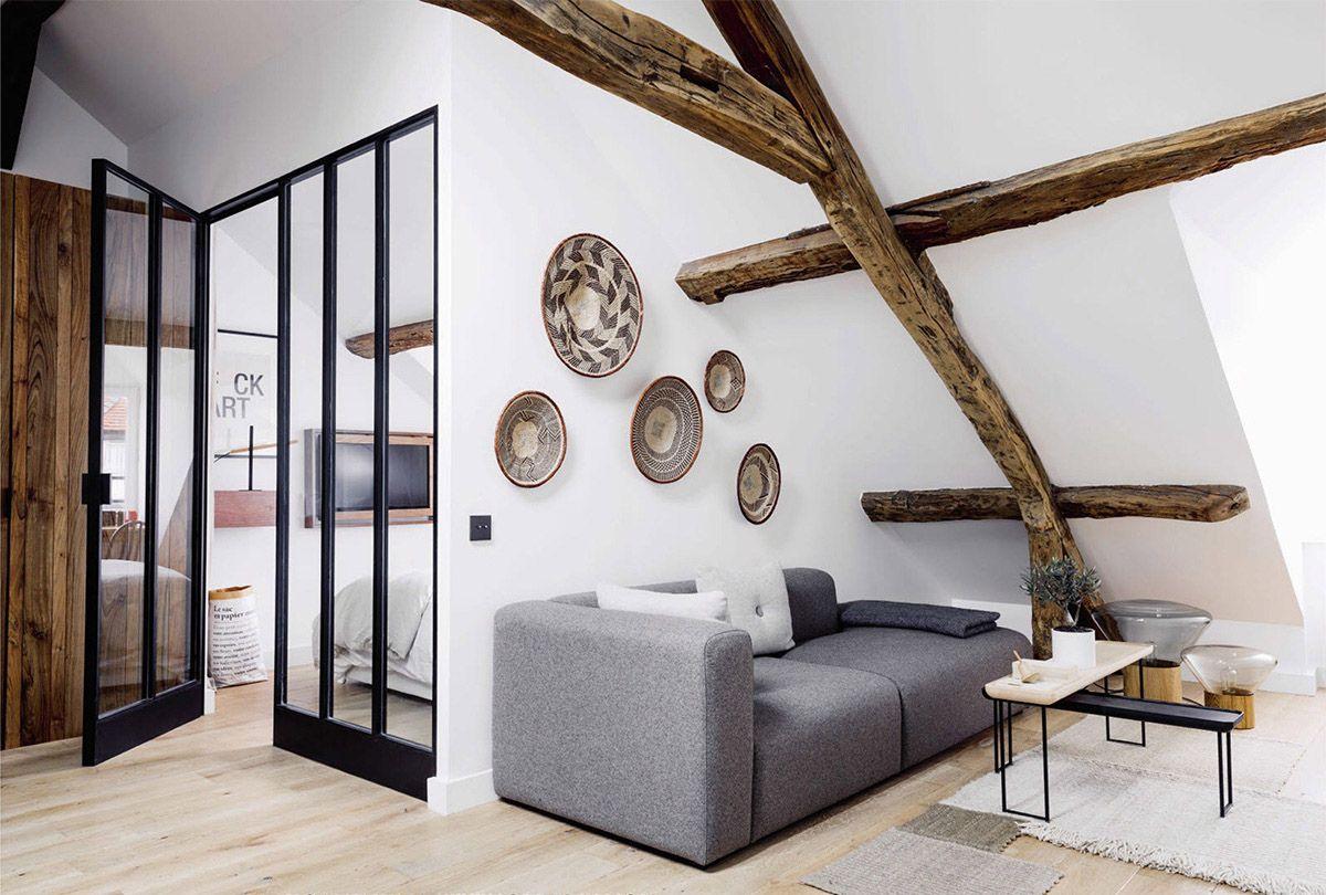 sous les combles un appartement sous les toits paris combles pinterest combles. Black Bedroom Furniture Sets. Home Design Ideas