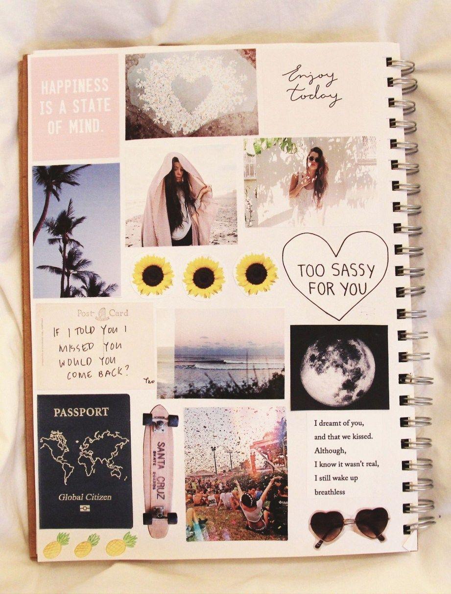 Scrapbooking Ideas For Bestfriends Collage Journaling Pinterest Happiness Sunflowers And Journal Diy Tumblr School Diy Diy Notebook