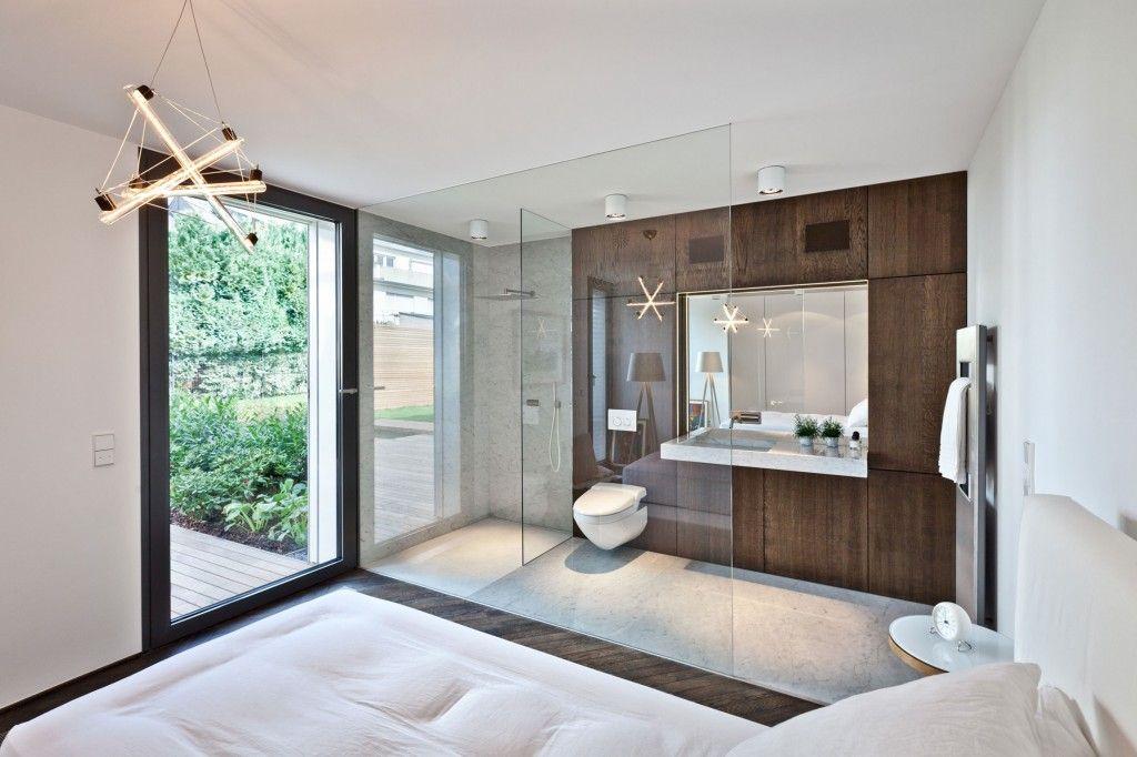 17 Open Living Spaces That Blur The Line Between Bedroom And Bathroom Ensuite Bathroom Designs Open Concept Bathroom Open Plan Bathrooms