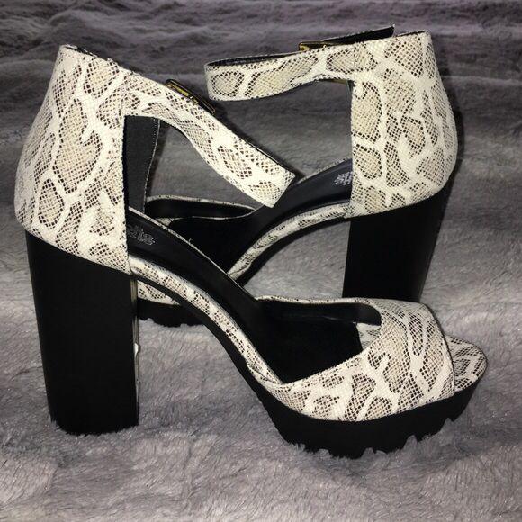 Selling this Chunk shoes on Poshmark! My username is: glammablog. #shopmycloset #poshmark #fashion #shopping #style #forsale #Charlotte Russe #Shoes