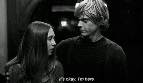 It's Okay. I'm here.  {Tate Langdon and Violet Harmon}