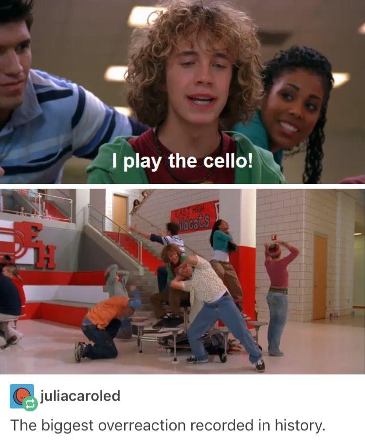 Pin By Hermione Di Angelo On C A N T S T O P L A U G H I N G High School Musical Tumblr Funny Musicals