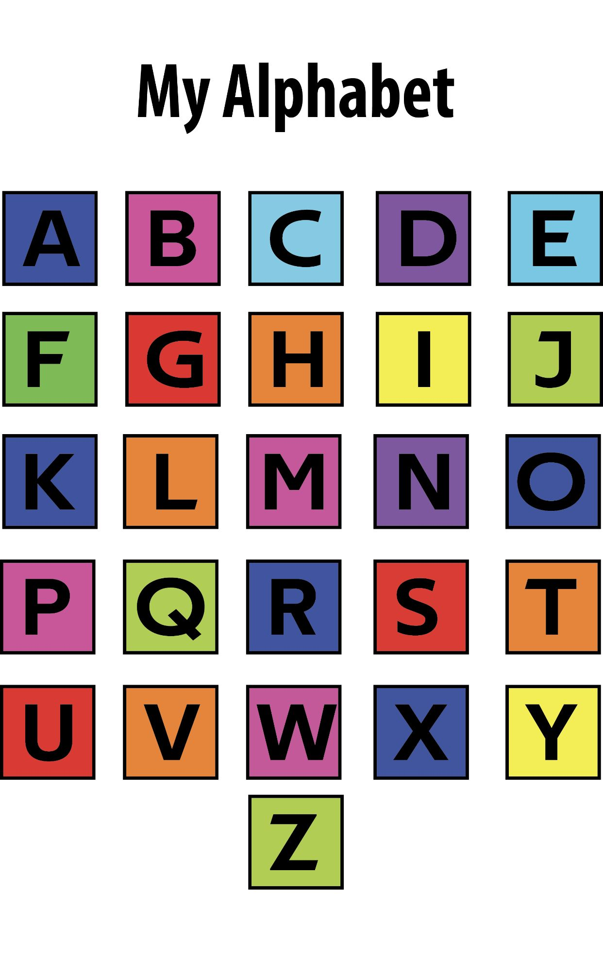 Free Colorful And Fun Abc Poster Abc Poster Education