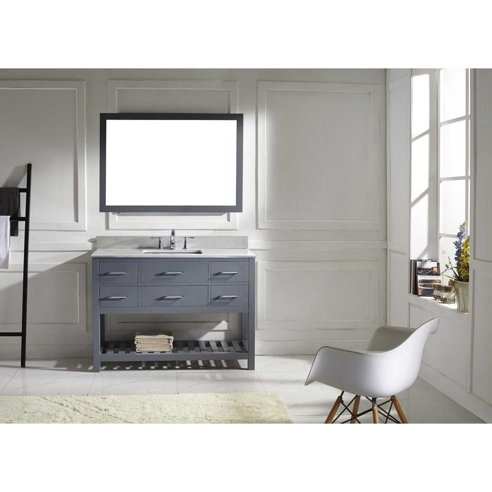 Virtu USA Caroline Estate 48 in. W x 36 in. H Vanity with Marble ...