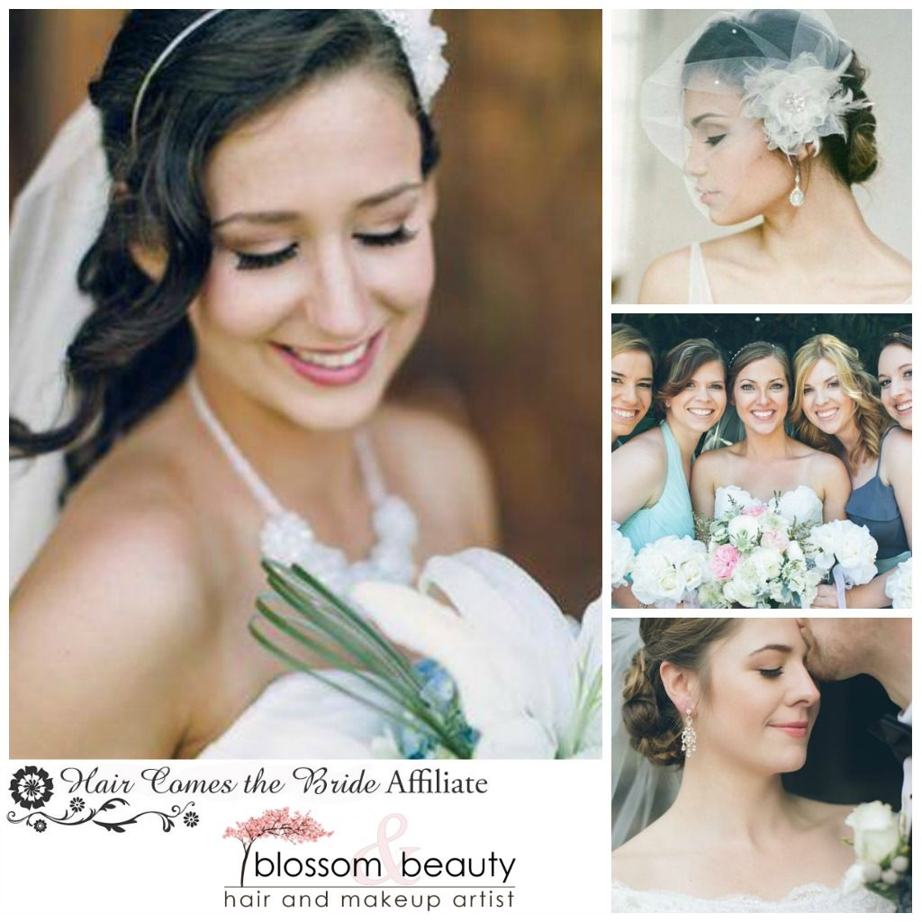 blossom & beauty portland, oregon bridal hair and makeup | hair