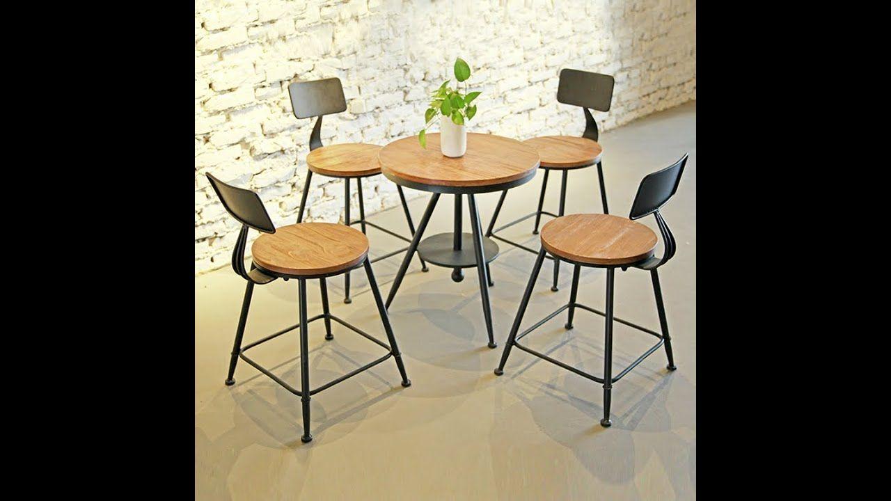 Coffee Bar Table And Chair Combination Bar Dessert Milk Tea Shop