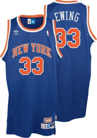detailed look b4da8 4a080 Patrick Ewing New York Knicks Adidas Blue Swingman Jersey ...