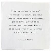 Cotton Napkins - Gratitude Series (set of 10) Assorted Messages