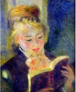 Woman Reading (1875-1876). Pierre-Auguste Renoir (1841-1919). Oil on canvas. Musée d'Orsay, Paris, France.