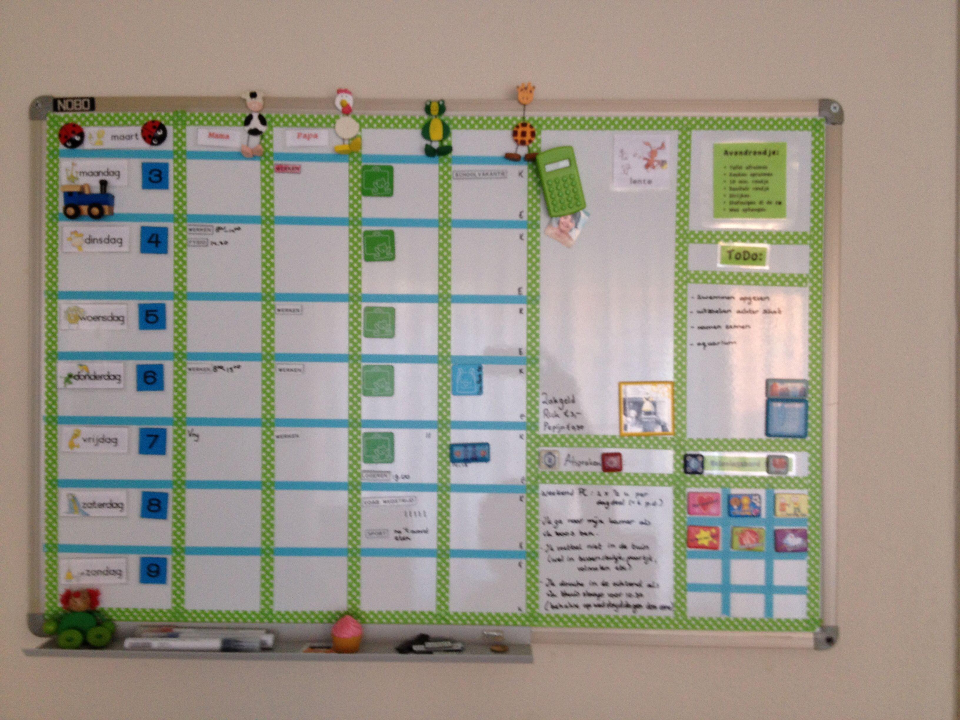 Beroemd Planbord in fris groen - Zelfgemaakt home-deco | Pinterest - Groen  EN01