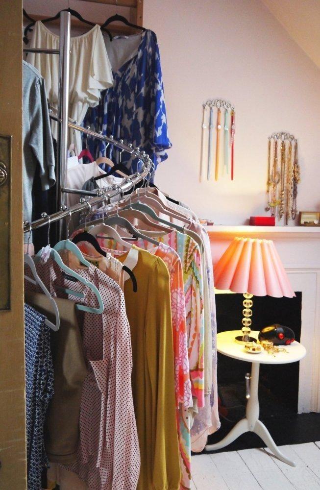 Laura S Bright And Beautiful Victorian Duplex In Glasgow Closet Clothes Storage Closet Tour Clothes Organization