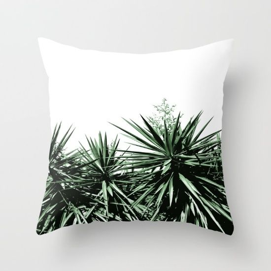 Yucca Throw Pillow by ARTbyJWP #throwpillow #pillow #cushion #pillowcover #pillowcase #yucca #cactus #minimal #boho ------------- Throw Pillow made from 100% spun polyester poplin fabric, a stylish statement that will liven up any room. Individually cut and sewn by hand, each pillow features a double-sided print and is finished with a concealed zipper for ease of care.  Sold with or without faux down pillow insert.