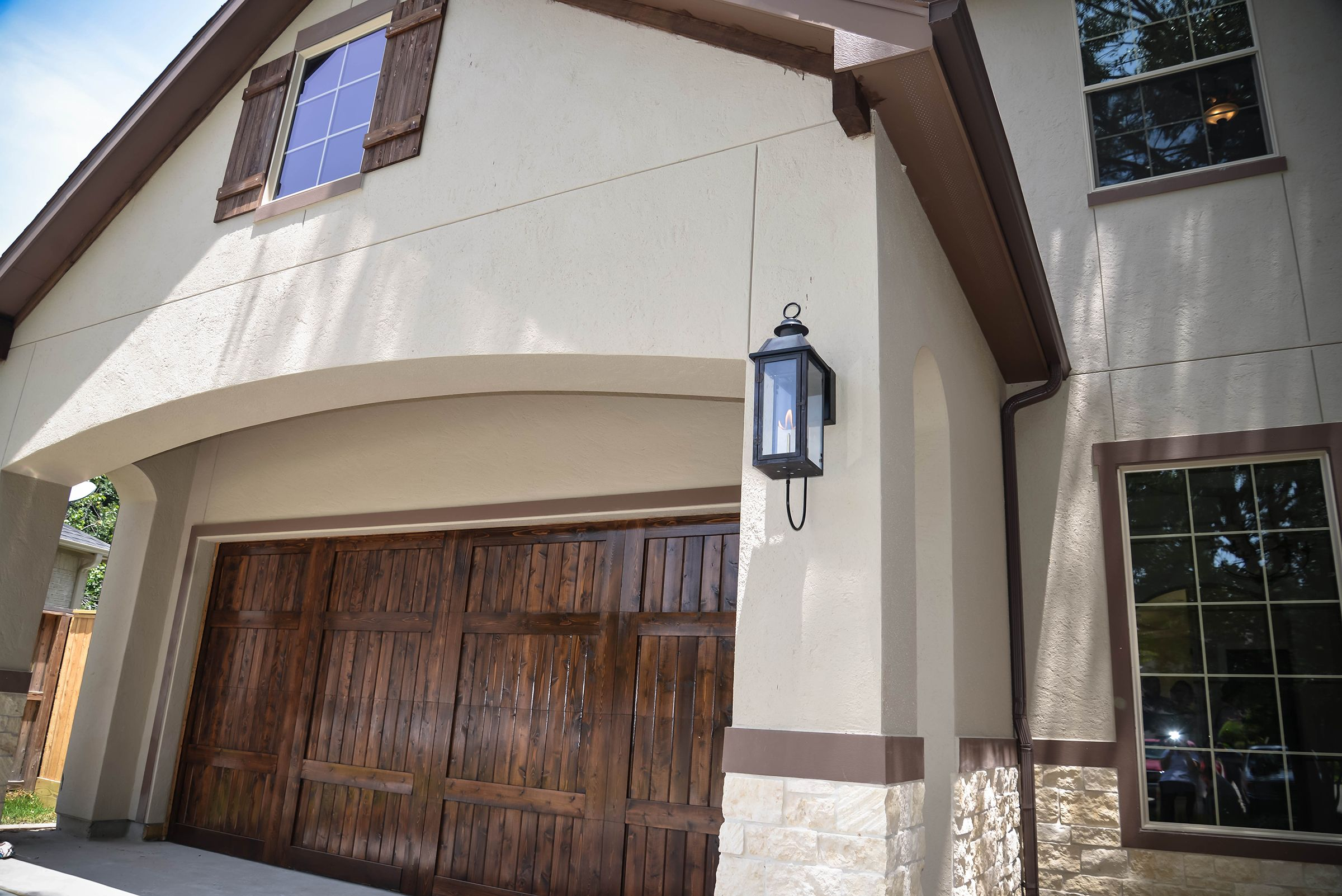 Garage front view For more information contact us 832-519-0996