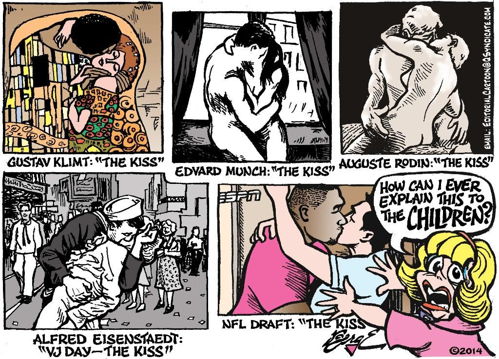 Editorial Cartoon: The Kiss