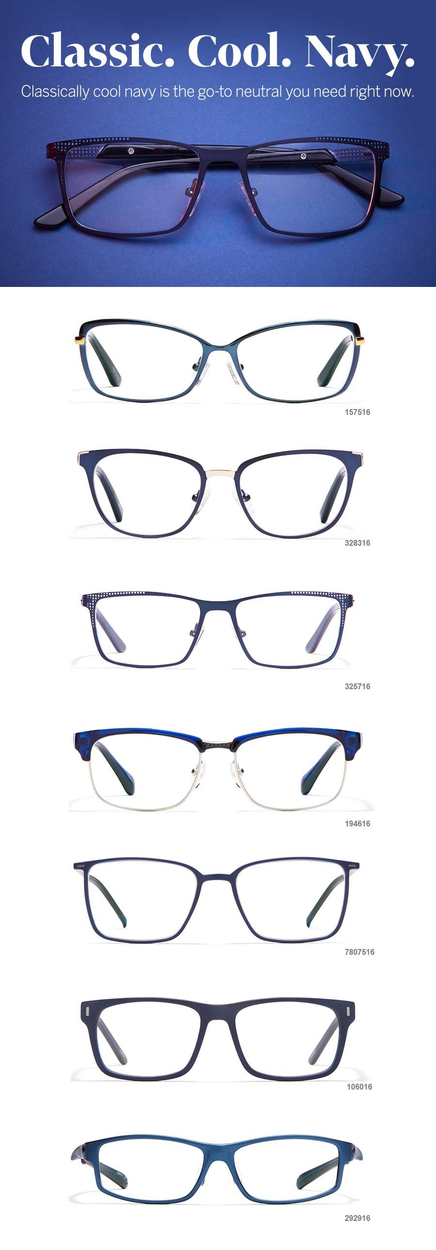 Perfect navy glasses to pair with your navy OOTD! | Fashion ...