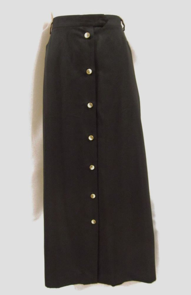 2af22f4cd1d Talbots size 20 Plus Skirt Long Black Button Front Straight Pencil Ankle  Modest  Talbots  StraightPencil