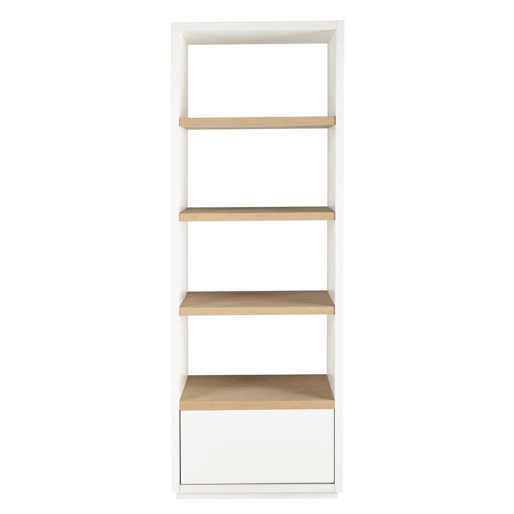 Columna estantería blanca | Estanterías, Madera maciza y Roble