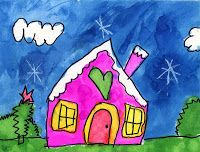 Art Projects for Kids: Callista's Snowy House