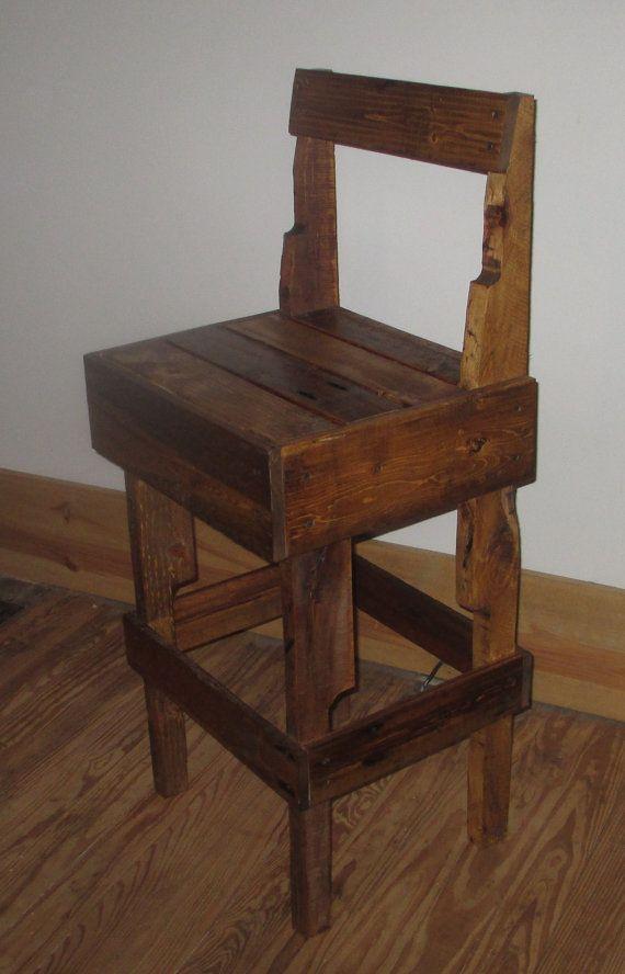 pallet bar bench bar stool refurbished pallet by jojobeesbarn on etsy 7999