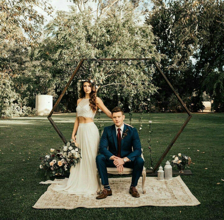 Hexagonal Arch Outdoor Wedding One Day Wedding