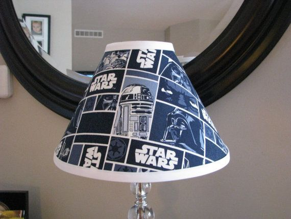 Star Wars Lamp Shade New Made With Size Is 4x11x7 Perfect For Bedroom Matching Night Light Also Available