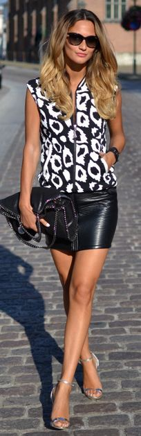 Lima's Wardrobe Black Leather Skirt